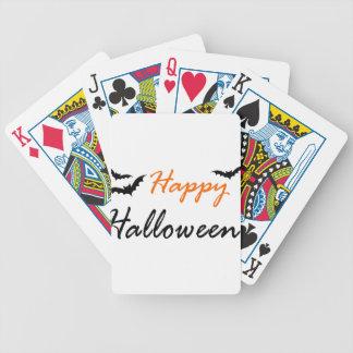 schlägt glückliches Halloween Bicycle Spielkarten