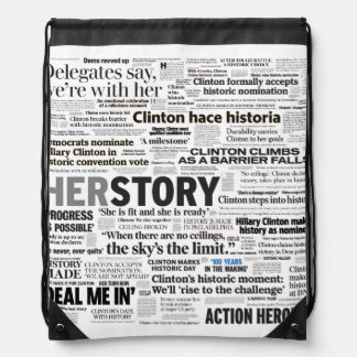 Schlagzeiledrawstring-Tasche Hillary 2016 Turnbeutel