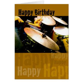 Schlagzeuger, alles Gute zum Geburtstag Grußkarte