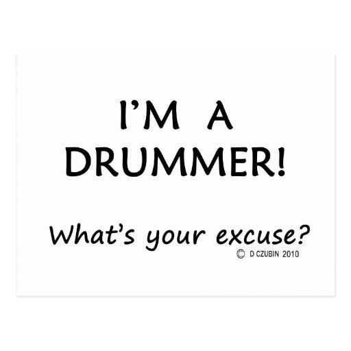 Schlagzeuger-Entschuldigung Postkarten