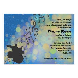 Schlagzeuger-Jungen-Bar Mitzvah Einladung