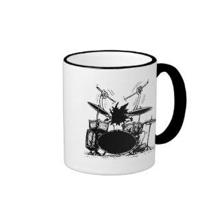 Schlagzeuger-Kaffee-Tasse Ringer Tasse