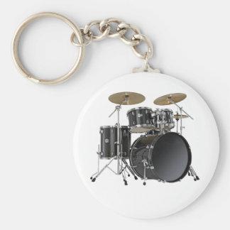 Schlagzeuger Keychain Standard Runder Schlüsselanhänger