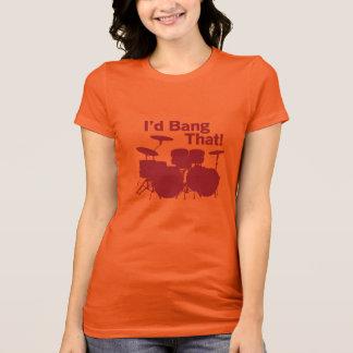 Schlagzeuger-Mädchen-Spaß-T - Shirt