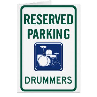 Schlagzeuger-Parken Karte