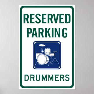 Schlagzeuger-Parken Poster