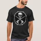 Schlagzeuger-Piraten-Schädel-T-Shirt T-Shirt