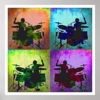 Schlagzeuger-Popkunst, Copyright Karen J Williams Plakate