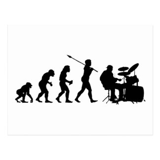 Schlagzeuger Postkarte