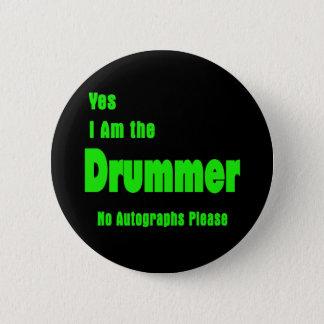 Schlagzeuger Runder Button 5,7 Cm