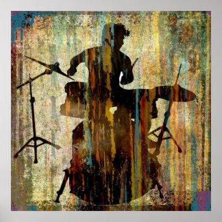 Schlagzeuger-Streifen, Copyright Karen J Williams Posterdruck