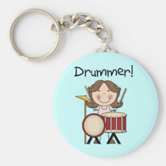 Schlagzeuger - weibliche T-Shirts und Geschenke Schlüsselanhänger