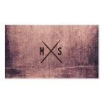 Schlagzeugergrunge-Drumsticks mit Monogramm Visitenkarten