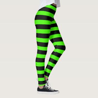 Schlamm-Grün und Schwarzes Leggings