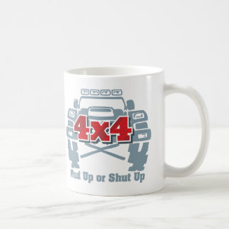 Schlamm hohes oder geschlossenes 4x4 weg von der kaffeetasse