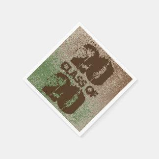 Schlamm-Liebhaber-Brown-Spritzen-Art gealtert+ Papierservietten
