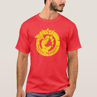 Schlammige Bauern (Gold/Rot) T-Shirt