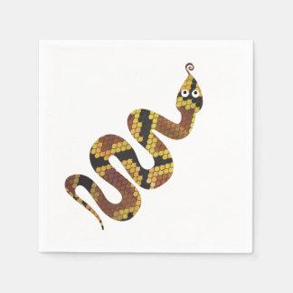 Schlange Brown und GoldSilhouette Papierserviette