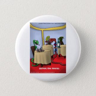 Schlange Dineries lustige Geschenk-T-Shirts-Karten Runder Button 5,7 Cm