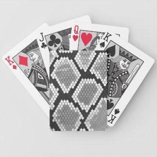 Schlange Grauer, Weiß-und Schwarz-Druck Bicycle Spielkarten