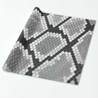 Schlange Grauer, Weiß-und Schwarz-Druck Geschenkpapier