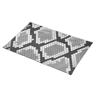 Schlange Grauer, Weiß-und Schwarz-Druck Tischset