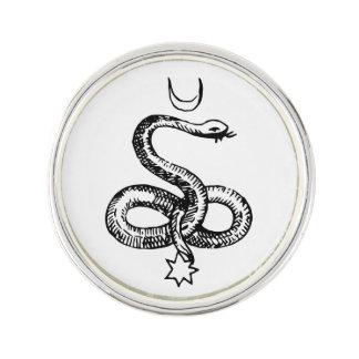 Schlange - heidnische Symbole Anstecknadel