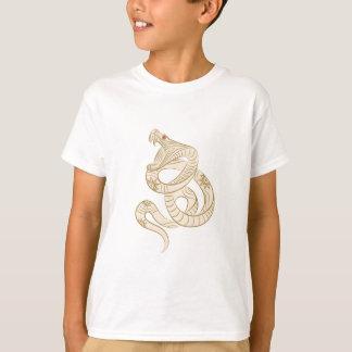 Schlange-Kunst (weiß) T-Shirt