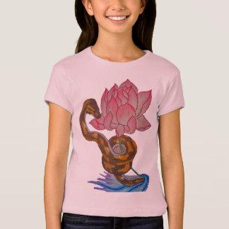 Schlange/Lotos T-Shirt