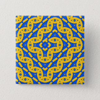 Schlange Quadratischer Button 5,1 Cm