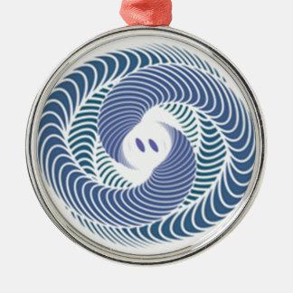 Schlange Rundes Silberfarbenes Ornament
