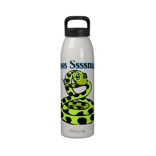 Schlange sagt Letsss Sssnuggle Trinkflasche