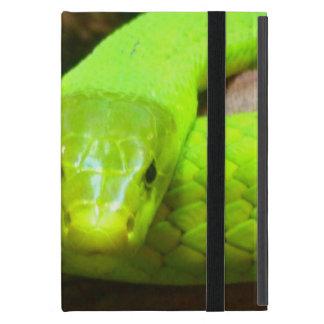 Schlangegrüner Mamba-tierisches beängstigendes iPad Mini Etui