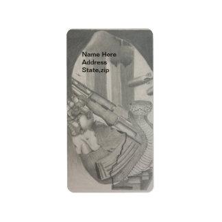 Schlangen-Gewehr-Bleistift, der Adressen-Etikett z Adressetikett
