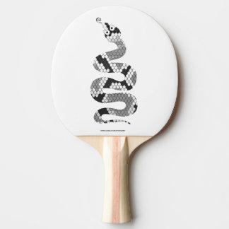 Schlangen-graue und hellgraue Silhouette Tischtennis Schläger