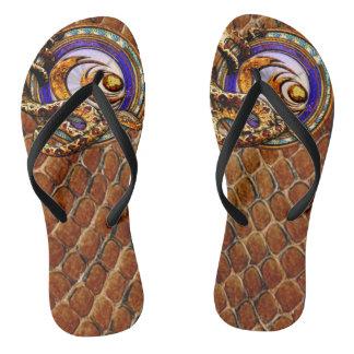 Schlangen-Haut-Gewohnheiten Flip Flops