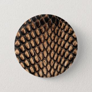 Schlangen-Haut-Knopf Runder Button 5,1 Cm