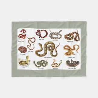 Schlangen-Identifizierungs-Decke Fleecedecke