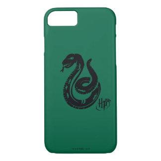 Schlangen-Ikone Harry Potters | Slytherin iPhone 8/7 Hülle