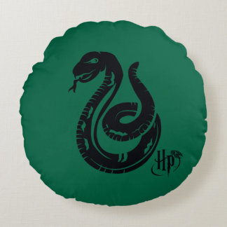 Schlangen-Ikone Harry Potters | Slytherin Rundes Kissen
