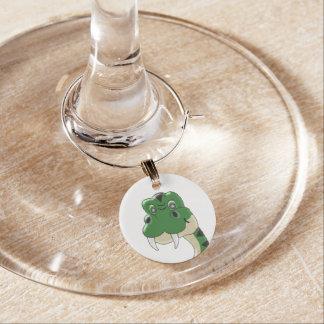 Schlangen-Kopf Weinglas Anhänger