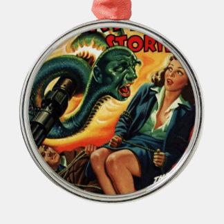 Schlangen-Mann Rundes Silberfarbenes Ornament