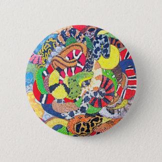 Schlangen Runder Button 5,1 Cm