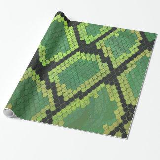 Schlangen-schwarzer und grüner Druck Geschenkpapier