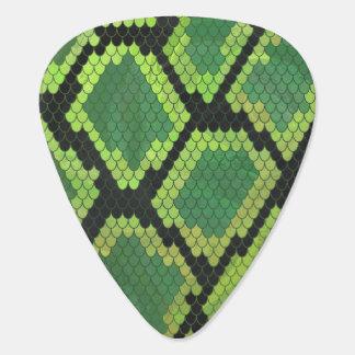 Schlangen-schwarzer und grüner Druck Plektrum