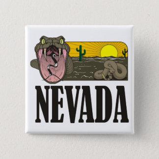 Schlangen-Staat von Nevada USA: Klapperschlange Quadratischer Button 5,1 Cm