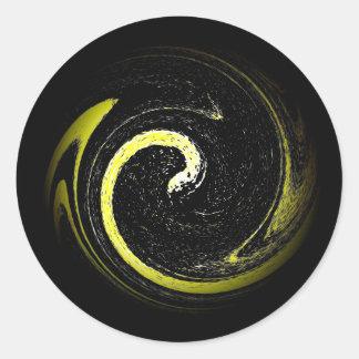 Schlangen-Symbol Runder Aufkleber