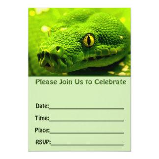 Schlangengeburtstagseinladung füllen freien Raum Karte