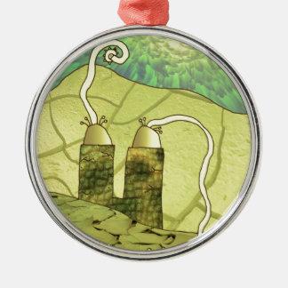 schlangenkopf silbernes ornament