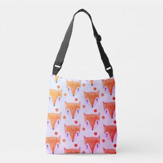 Schlaue Fox-Aquarell Crossbody Tasche